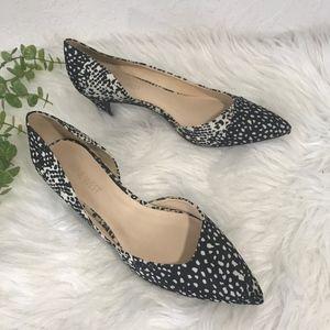 Nine West Black & White Carao Pointed Toe Heel